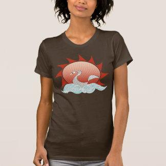 Camiseta del cisne de la puesta del sol remera