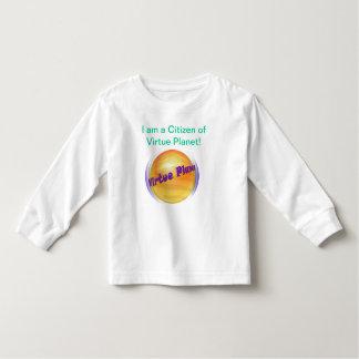 Camiseta del ciudadano del planeta de la virtud playeras