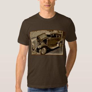 Camiseta del coche del vintage playera