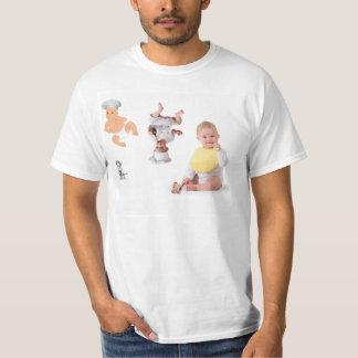 camiseta del cocinero del bebé poleras