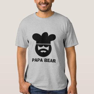 Camiseta del cocinero del cocinero del oso de la playera