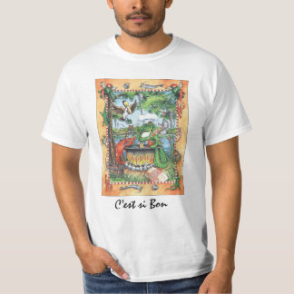 Camiseta del cocinero del cocodrilo remera