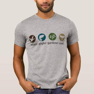 Camiseta del cocinero del jardinero del pescador d playeras