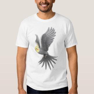 Camiseta del Cockatiel del vuelo Playera