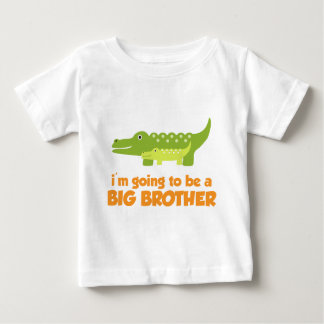 Camiseta del cocodrilo de hermano mayor playera para bebé