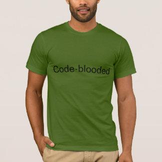 """camiseta del """"Código-blooded"""" de Code.org"""