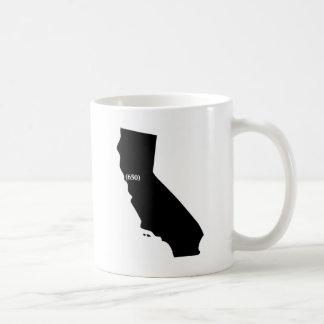 Camiseta del código de área 650, área de la bahía, tazas de café