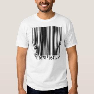 Camiseta del código de barras camisas
