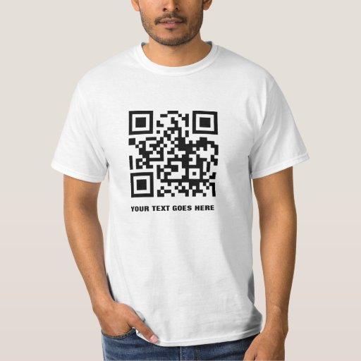 Camiseta del código de QR Playeras