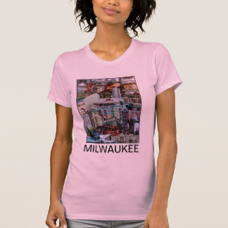 Camiseta del collage de Milwaukee