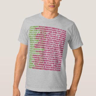 Camiseta del collage del texto playera