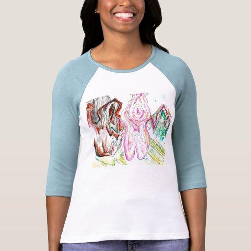 camiseta del color de agua playera