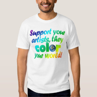 Camiseta del color de los artistas de la ayuda playeras