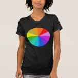 Camiseta del color del arco iris del espectro
