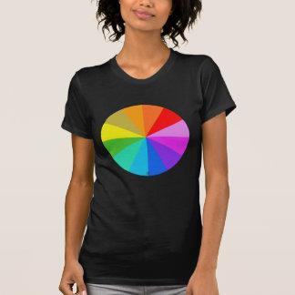 Camiseta del color del arco iris del espectro playeras