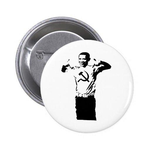 Camiseta del Commie de Obama que lleva Pin