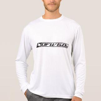 Camiseta del competidor L S del Deporte-Tek de los