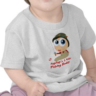 Camiseta del compinche de la pesca de PopPop s