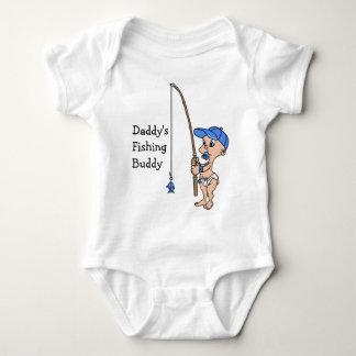 Camiseta del compinche de la pesca del papá poleras