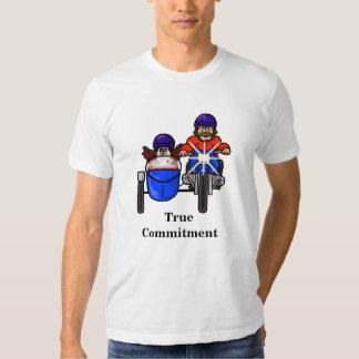 Camiseta del compromiso de los pares del motorista polera
