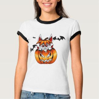 Camiseta del conejito de la calabaza del vampiro polera