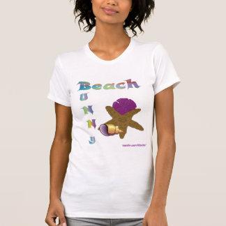 camiseta del conejito de la playa polera
