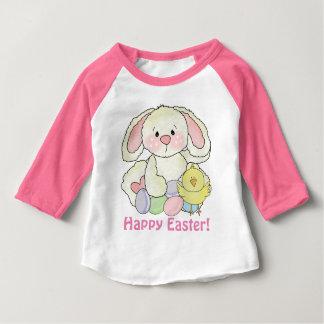 Camiseta del conejito de pascua de las niñas