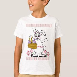 Camiseta del conejito de pascua del niño adaptable