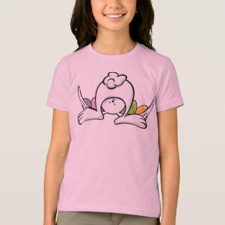 Camiseta del conejito de pascua para los niños y playeras
