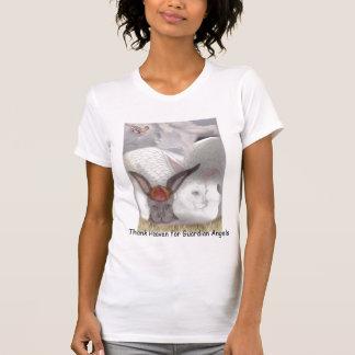 Camiseta del conejito del ángel de guarda