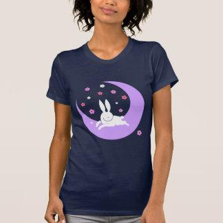 Camiseta del conejo de la luna