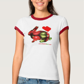Camiseta del conejo del navidad de RabbitMart Remeras