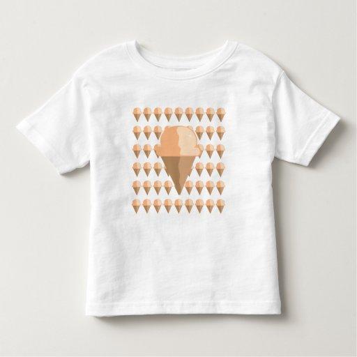 Camiseta del cono de helado de melocotón