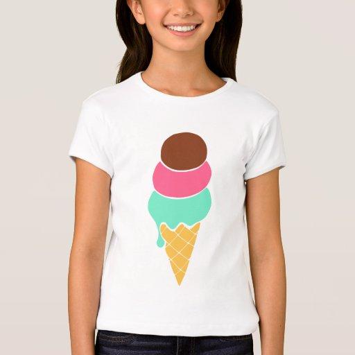 Camiseta del cono de helado del verano