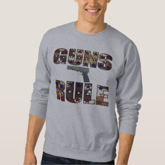 Camiseta del control de armas sudaderas