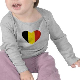 Camiseta del corazón de la bandera de Bélgica