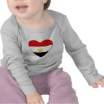 Camiseta del corazón de la bandera de Egipto