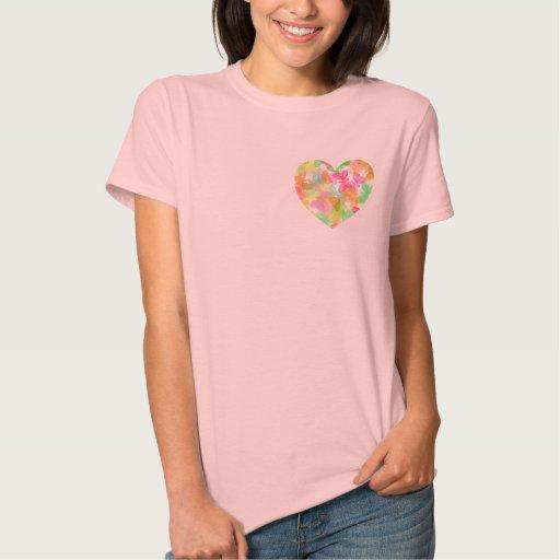 Camiseta del corazón de la mariposa