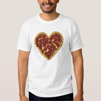 Camiseta del corazón de la pizza remera