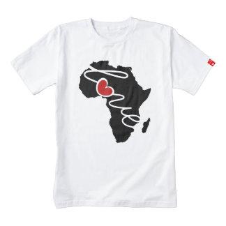 Camiseta del corazón de la silueta del amor de playera zazzle HEART