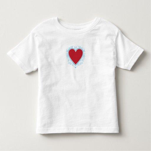 Camiseta del corazón de la tarjeta del día de San Remera