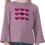 camiseta del corazón de los chicas