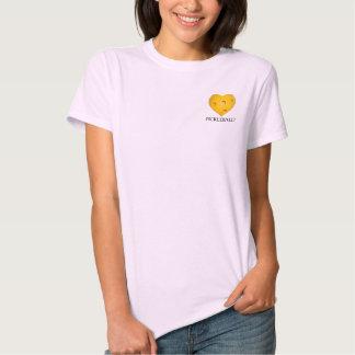 Camiseta del corazón de Pickleball del amor Polera