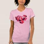 camiseta del corazón del caramelo