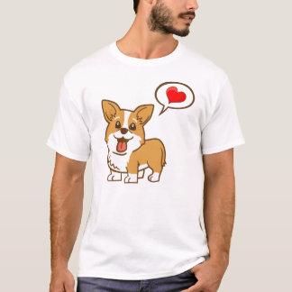 """Camiseta del """"corazón"""" del Corgi para los hombres"""
