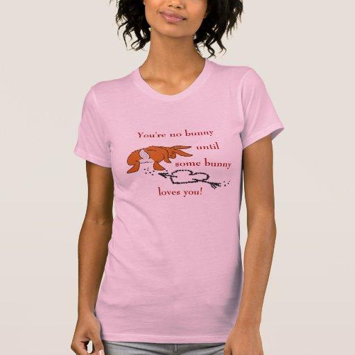¡Camiseta del corazón del impulso del conejito!
