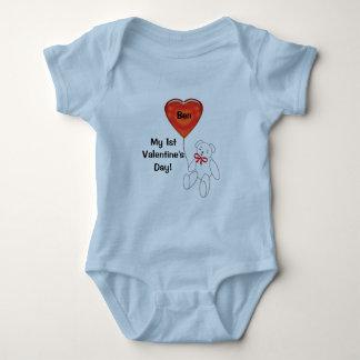 Camiseta del corazón del oso del peluche de la 1ra camisas