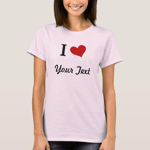 Camiseta del corazón del personalizable I