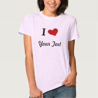 Camiseta del corazón del personalizable I Playera