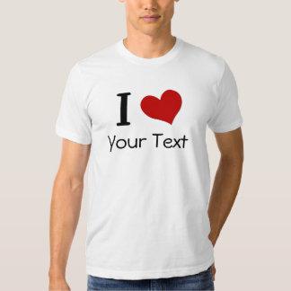 Camiseta del corazón del personalizable I Poleras